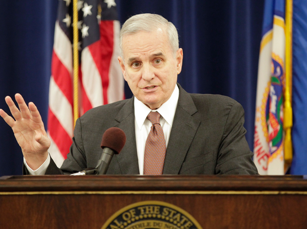 Gov. Mark Dayton. Photo courtesy Paul Battaglia /  Minnesota House of Representatives Public Information Services
