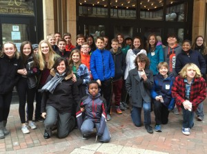 "Ms. Hansen's seventh grade class at Lake Harriet Community School used a Fulton neighborhood grant to attend ""Diary of Anne Frank."" Submitted photo"