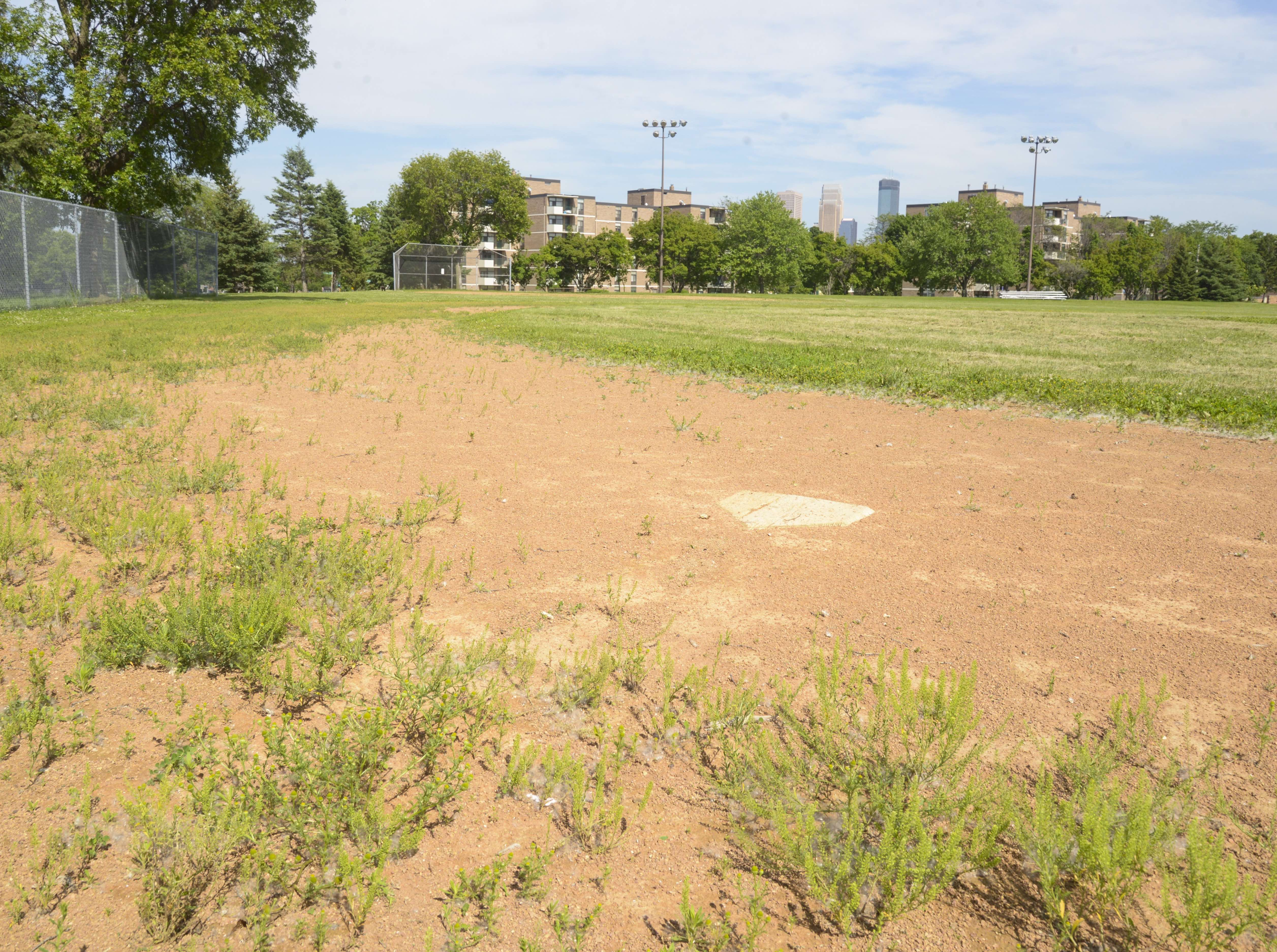 Harrison Park is one of nearly 160 neighborhood parks that face a deepening backlog of maintenance issues.  Photo courtesy of the Minneapolis Park and Recreation Board.