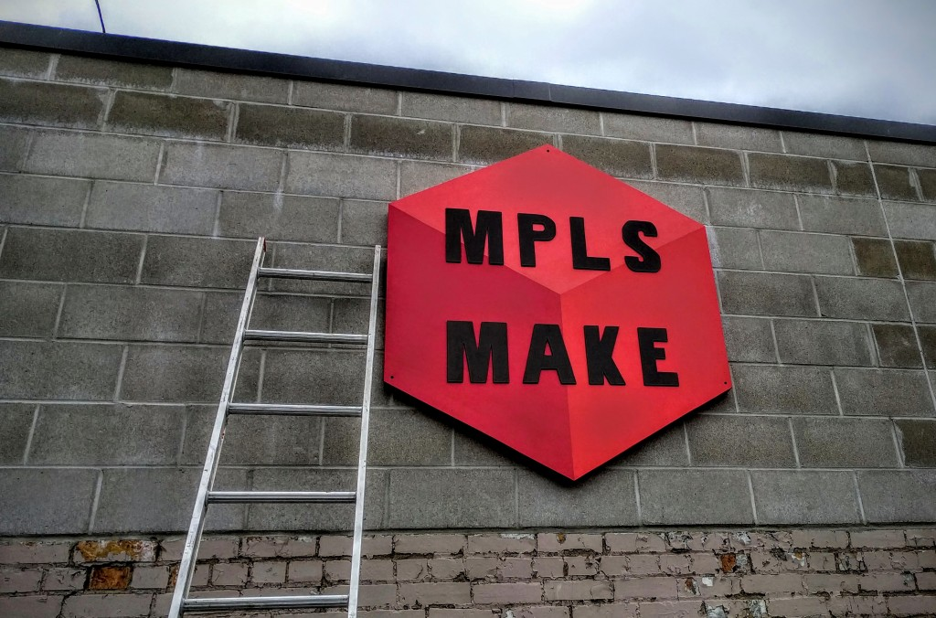 MPLS MAKE has relocated to a move visible location, a former auto body garage off Central Avenue Northeast.