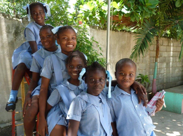 Children at Annunciation School, a primary school in Leogane, supported by Mission Haiti. Submitted photo