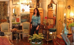 Kelly Wallace owns A Rare Bird Antiques at 50th & Xerxes. Photo by Michelle Bruch