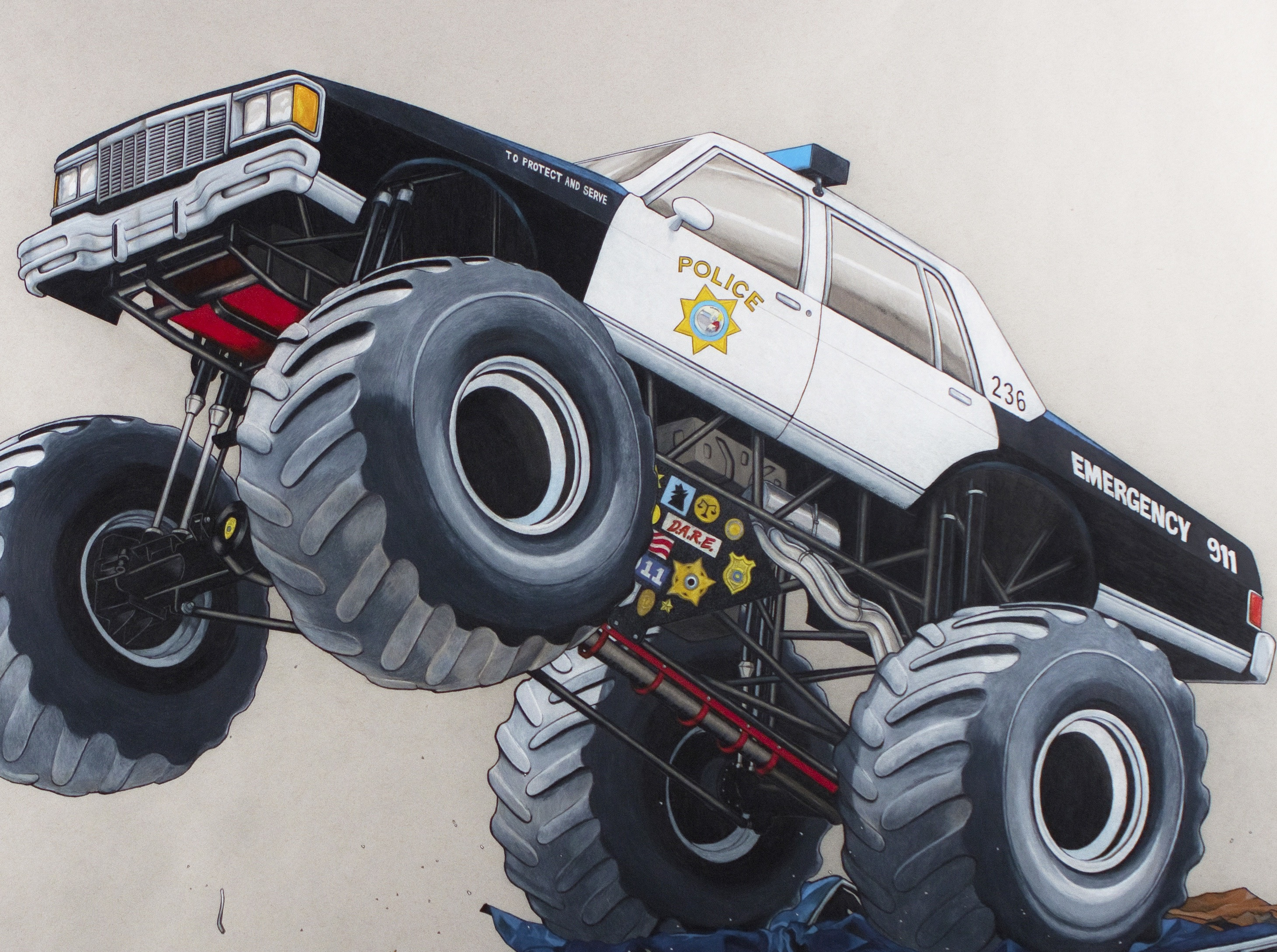 """Routine Patrol by Russ White as part of """"Macro Machines"""" at Gamut Gallery from April 2-23."""