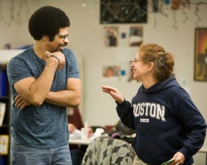Members of the zAmya Theater Troupe rehearsed their Christmas show. The troupe's homeless, formerly homeless and housed actors come together to present transformative community theater.