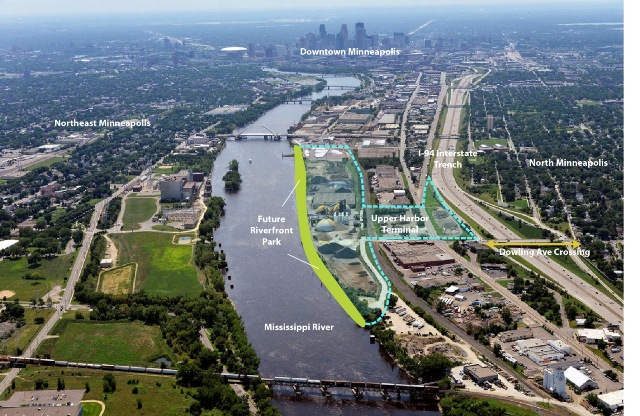 Upper Harbor Terminal site map courtesy of the City of Minneapolis.