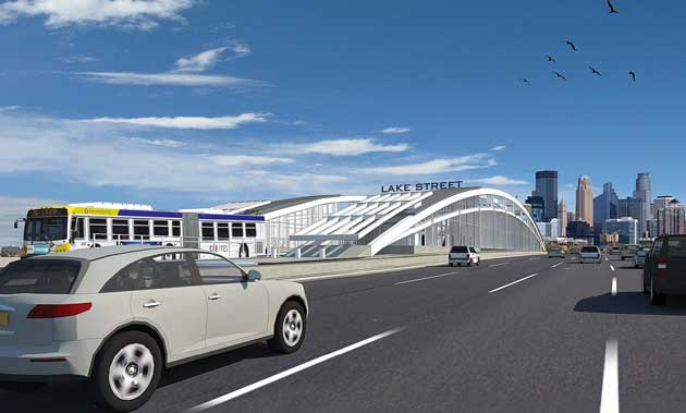 The BRT station planned for I-35W south of downtown. File image