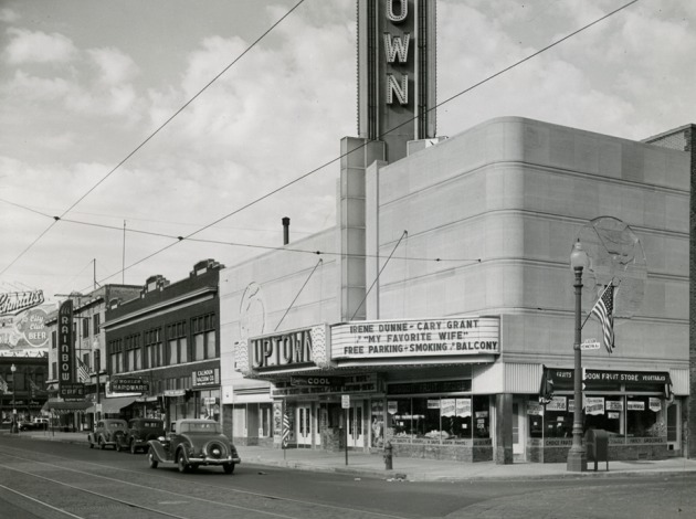 The Uptown Theatre, pictured in 1939. Photo courtesy of Uptown Theatre