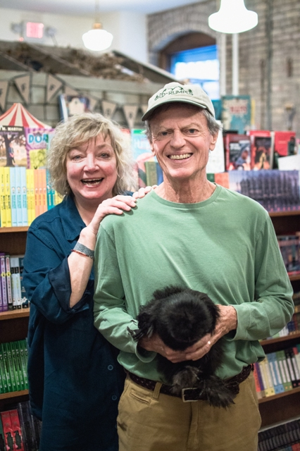 Collette Morgan and Tom Braun, founders of Wild Rumpus Books. Photo by Theo Goodell