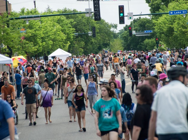 A view of the 2015 Lyndale Open Streets event, which attracted about 14,000 people. Photo by Bob Dixon
