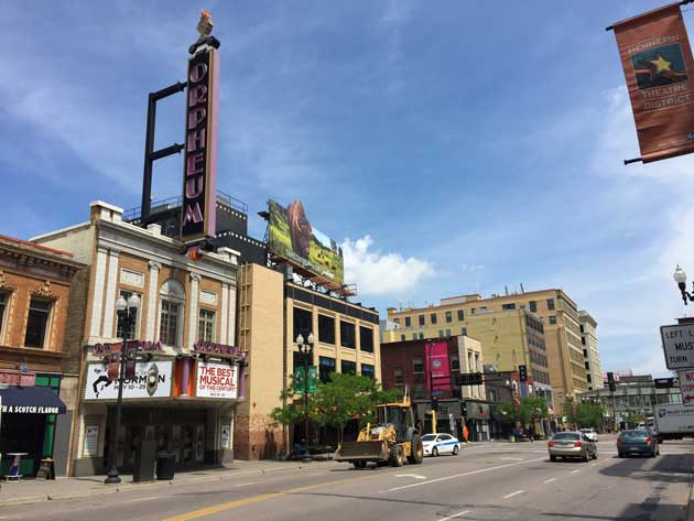 The historic theaters of Minneapolis walking tour is scheduled for Sept. 3. Photo by Sarah McKenzie