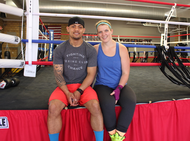 Heidi Henriksen and fiancée Joe Amouta have found love and a career at the boxing ring. Photo by Michelle Bruch