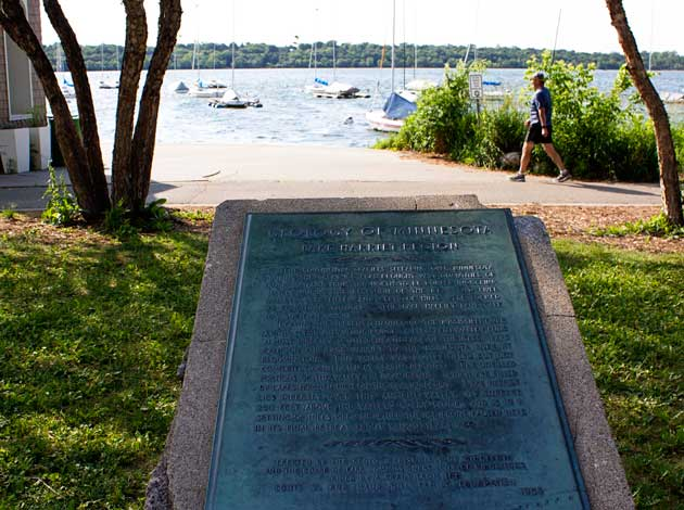 A Lake Harriet historical marker. File photo