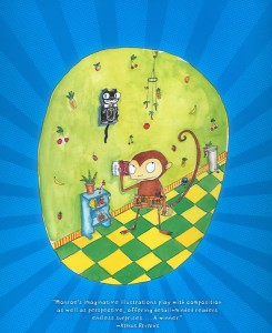 """Back cover image from Chris Monroe's 2007 book """"Monkey With a Tool Belt."""""""