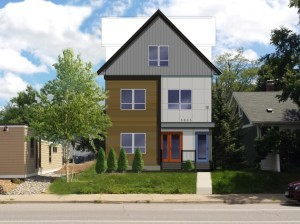 A rendering of new townhomes slated for 5605 Nicollet Ave. S. Submitted by Wells & Company Architects