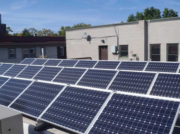 Solar installations increased 40 percent in the city in 2015 compared to 2014. Photo courtesy of Sundial Solar