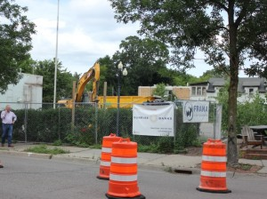 Construction is underway  to build four-story apartments at 4264 Upton Ave. S.