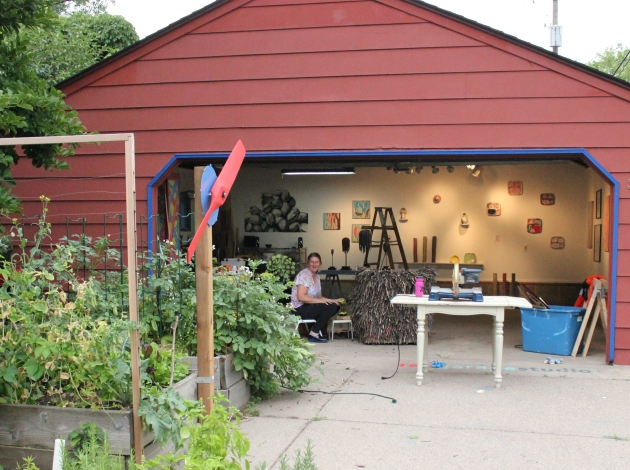 Kingfield resident Allison Ruby has converted her garage into a gallery.