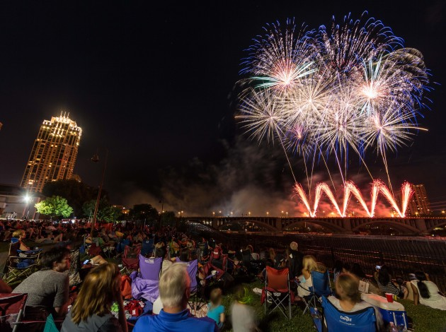 Target Fireworks. Photo by Dusty Hoskovec Photography
