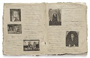 One of Castle's handmade books.