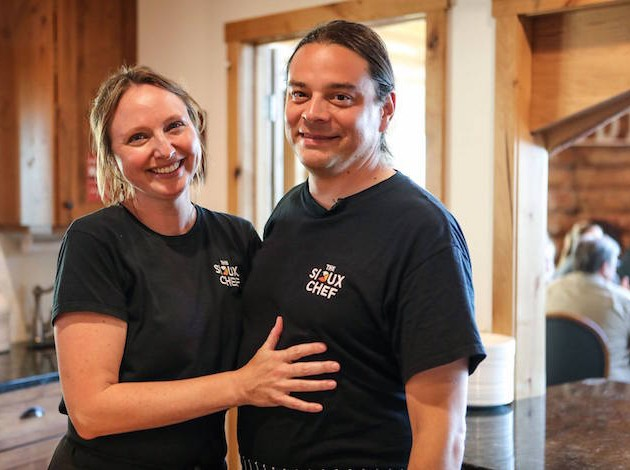 The Sioux Chef proprietors Dana Thompson and Sean Sherman. Submitted photo