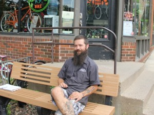 Mike O'Leary, co-owner of Tangletown Bike Shop at 48th & Grand.