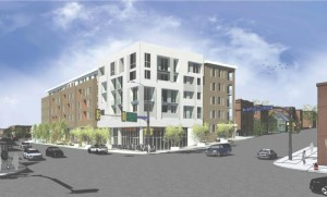 A new design for an apartment project at the southwest corner of Franklin & Lyndale.