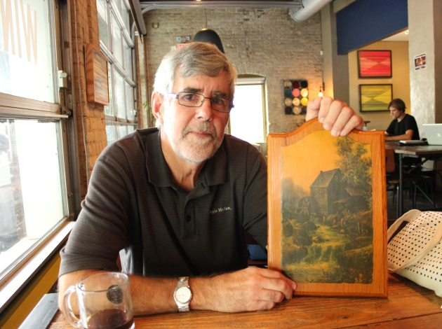 Tom Balcom shows a representation of the Richfield flourmill. No actual drawing or photo of the mill has been found. The mill operated on Minnehaha Creek at Lyndale Avenue from 1854 through the 1880s.
