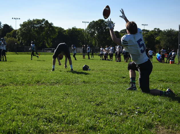 Southwest High School's Lakers running drills during practice. Photo by Zoë Peterson.