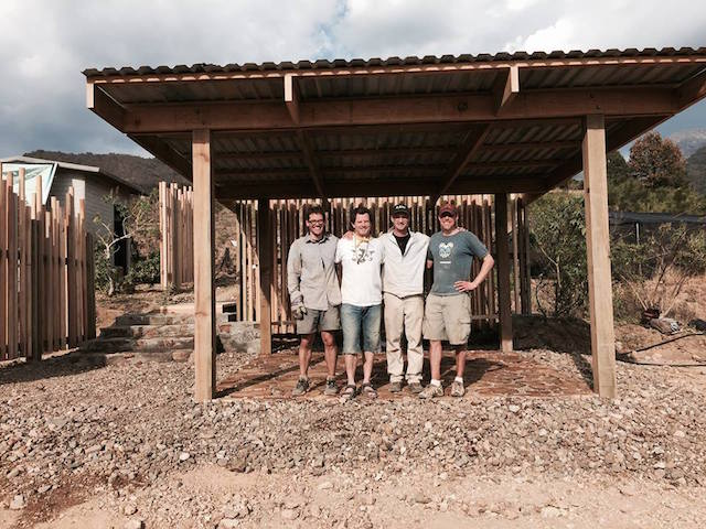 Locus Architecture staff lead RAW, a Real Architecture Workshop, in Oaxaca. Pictured (l to r) Adam Jonas, Wynne Yelland, Paul Neseth and Justin Merkovich. Submitted photo
