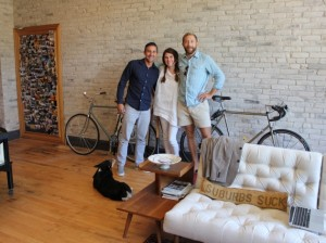 Mortgage consultant Paris Alves, designer Jennifer Jorgensen and Rare Form Properties founder Steve Imhoff. Photo by Michelle Bruch