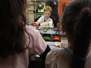 All Minneapolis Public Schools have salad bars at lunch. Photo by Zoë Peterson.