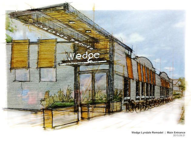 A rendering of the remodeled entry at Wedge Community Co-op, where renovations are slated to be complete in October. Submitted image