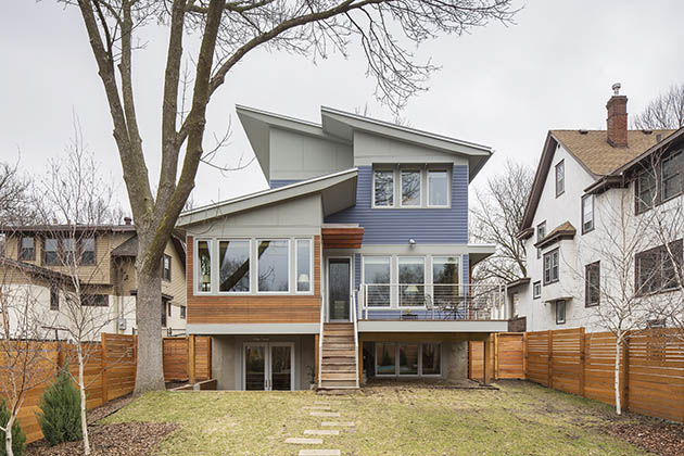 Architect Eric Odor designed a neighbor's new home.