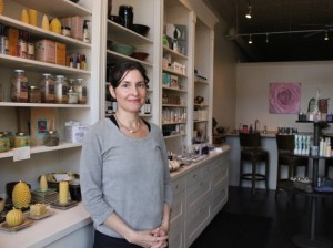 Nissa Valdez, owner of Estrella Apothecary & Spa. Photo by Michelle Bruch