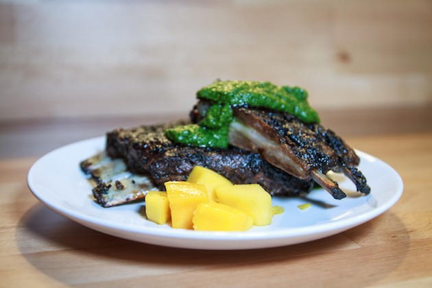 Xavi's lamb ribs with mango and cilantro. Submitted photo