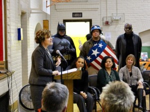 "Minneapolis Mayor Betsy Hodges announces Minneapolis Public Schools' support for the citywide ""Talking is Teaching"" campaign to help build vocabulary and language skills among young kids. Photo by Nate Gotlieb"