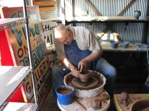 Ceramic artists volunteer to create bowls at Uptown Clay. File photo by Michelle Bruch