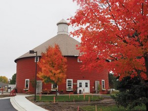 The colors glow — both inside and out — at the Round Barn Trading Company. Photo by Linda Koutsky