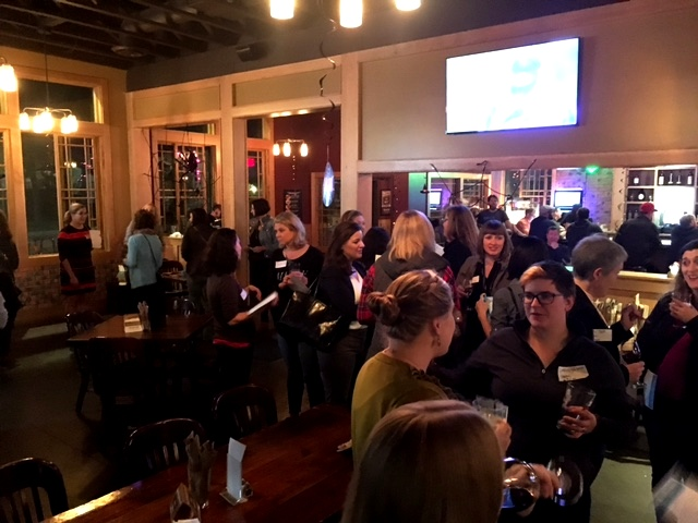 Working moms gathered at a happy hour in November. Submitted photo