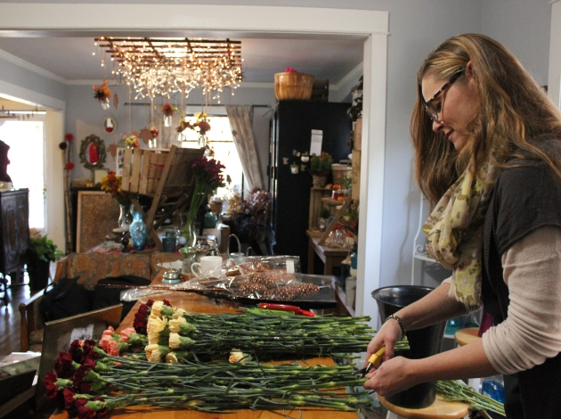Aimee Sherrill at The Petal Cart, now open at 2520 Hennepin Ave.