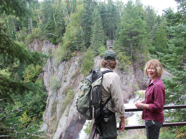 Lt. Gov. Tina Smith at Tettegouche in September. Photo courtesy of Governor's office