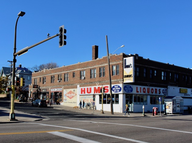 A pair of proposals at City Hall would restrict high-density residential development in the interior of the Lowry Hill East neighborhood and push it toward higher-volume streets such as Lyndale Avenue (pictured here). Photo by Nate Gotlieb