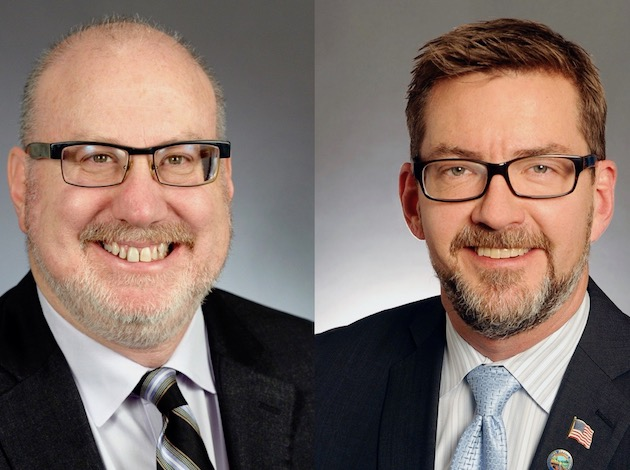 Rep. Frank Hornstein (left) and Sen. Scott Dibble