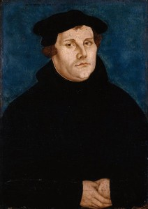 A portrait of Luther by Lucas Cranach the Elder, dated to 1529. © Deutsches Historisches Museum