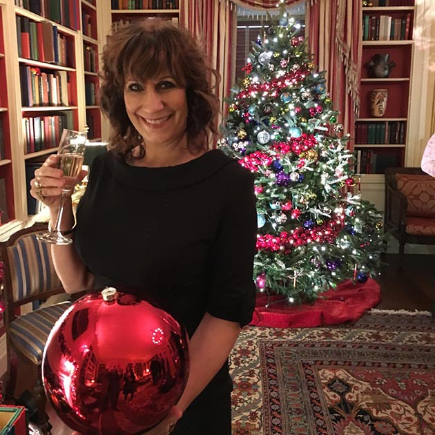 Lizz Winstead at the White House holiday party Monday afternoon. Submitted photo by Bruce Cherry