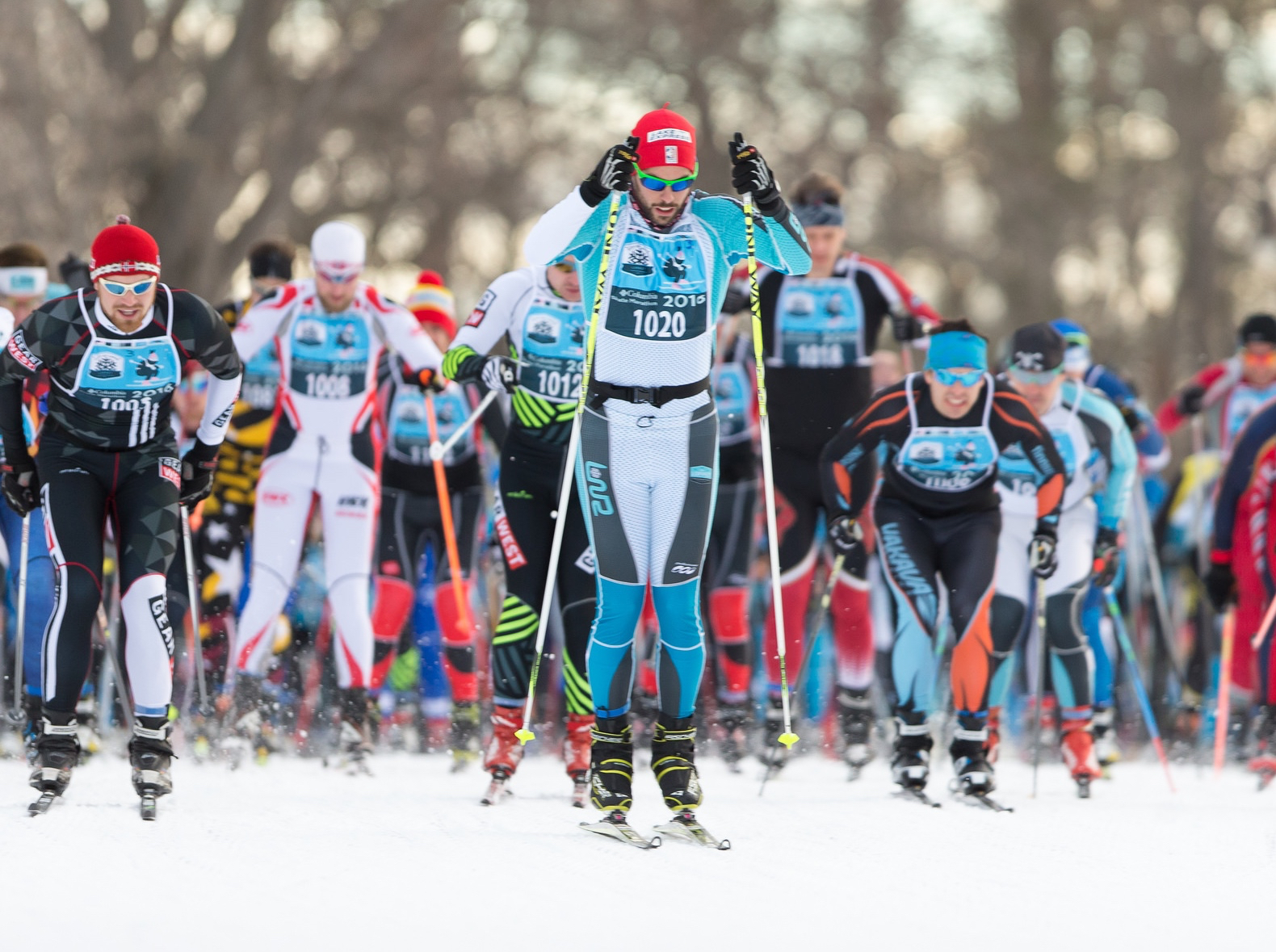 The Columbia Sportswear Skate Marathon has cross-country skiers of all ages racing between Theodore Wirth Park and Uptown's Loppet Village. Photo by Steve Kotvis