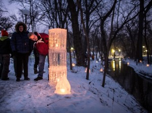 The Middlemoon Creekwalk, a spontaneous ice installation near Lake Harriet, attracts a growing number of volunteers and visitors each winter. Photo by Stephen L. Garrett