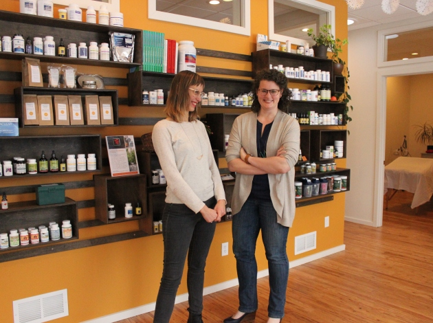 Jesse Haas (l) and Sara Jean Barrett have relocated their naturopathic clinic to 45th & Nicollet. Photo by Michelle Bruch