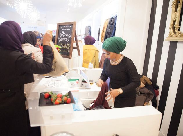 Sumeya Ahmed, co-founder of ZiZi Boutique, says clothing is moving quickly. Photo by SJ