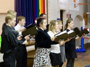 Members of VocalEssence sing lullabies written by students of Longfellow Alternative High School. Photo by Nate Gotlieb